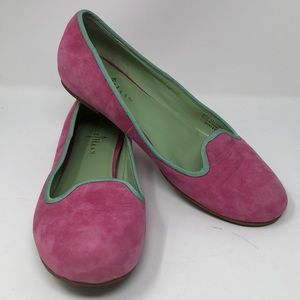 Cole Haan Pink Suede Air Flats slip on Size 8